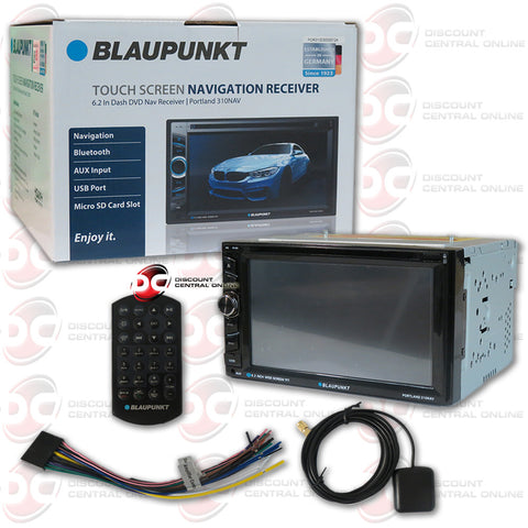 "Blaupunkt 2DIN PORTLAND310NAV 6.2"" Car GPS DVD CD Receiver with Bluetooth"