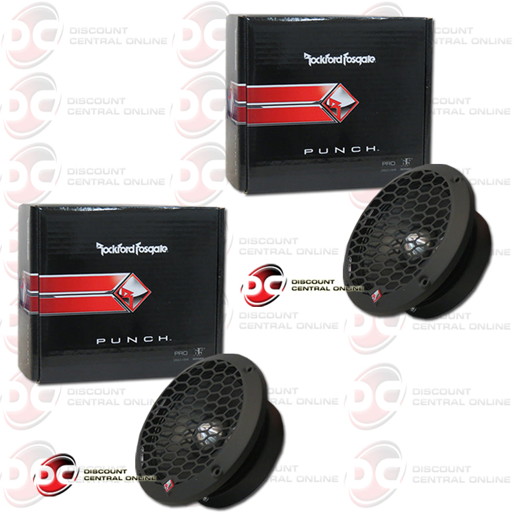"2X ROCKFORD FOSGATE PPS4-6 6.5"" 4-OHM MIDRANGE CAR AUDIO SPEAKERS (PUNCH PRO SERIES)"