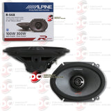 "ALPINE R-S68 6 x 8"" 2-WAY CAR COAXIAL SPEAKERS"