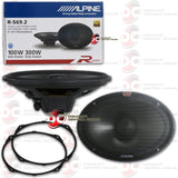 "ALPINE R-S69.2 6x9"" 2-WAY CAR AUDIO COAXIAL SPEAKERS"
