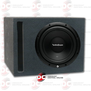 "ROCKFORD FOSGATE R1S4-10 10"" (200W RMS) SINGLE 4 OHM CAR SUBWOOFER (R1 PRIME SERIES) PLUS PORTED SUBWOOFER BOX"