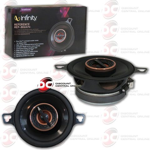 "Infinity REF-3022cfx 3.5"" 2-way Car Coaxial Speakers"