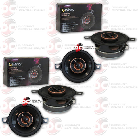 "Infinity REF-3022cfx 3.5"" 2-way Car Coaxial Speakers (2 Pairs)"