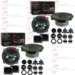 "4 X INFINITY REFERENCE REF-5020CX 5-1/4"" COMPONENT CAR AUDIO SYSTEM"
