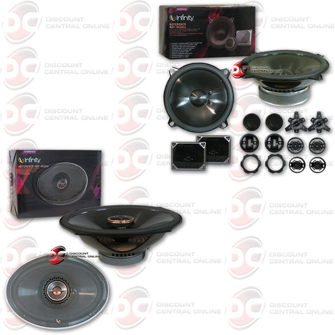 "Infinity Ref-5020CX 5.25"" 2-Way Car Audio Component System Plus Infinity Ref-9622IX 6x9"" 2-way Component Speakers"