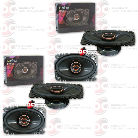 "Infinity REF-6422cfx 4x6"" 2-way Car Speakers (2 Pairs)"