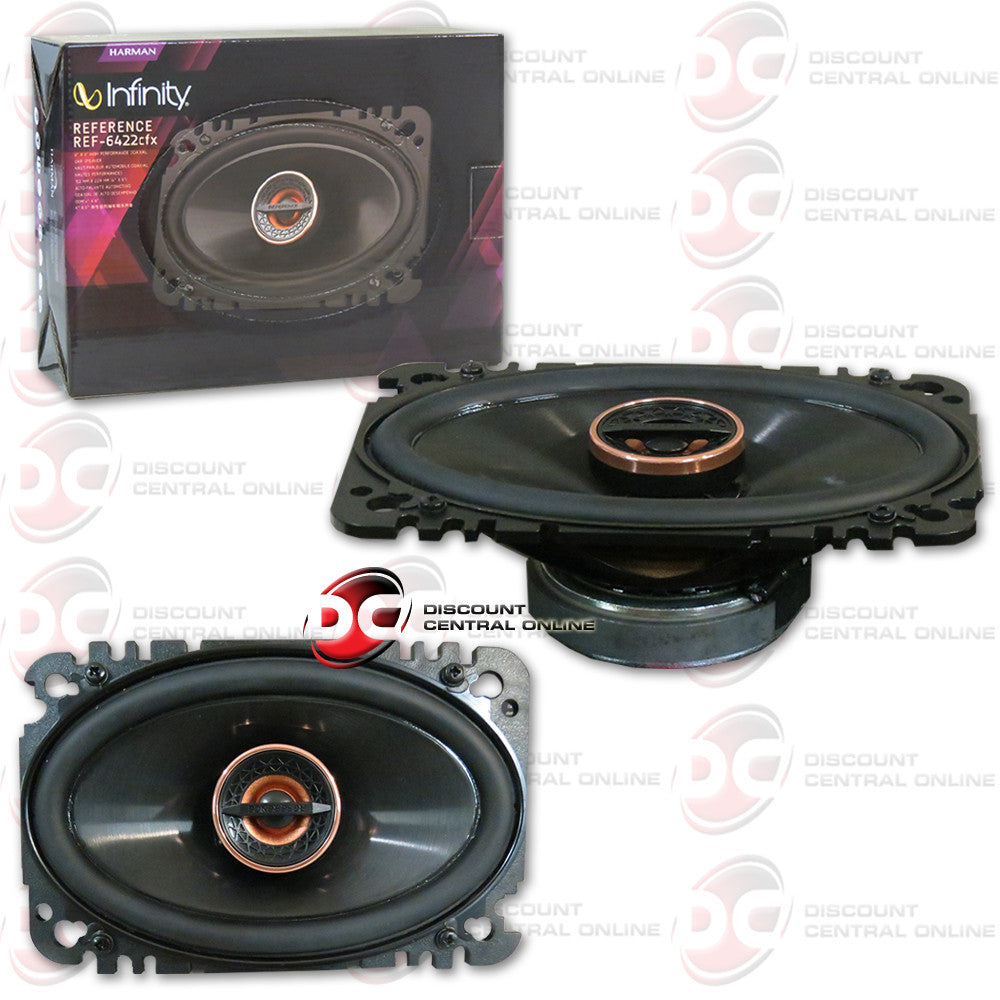 "Infinity REF-6422cfx 4x6"" 2-way Car Speakers"