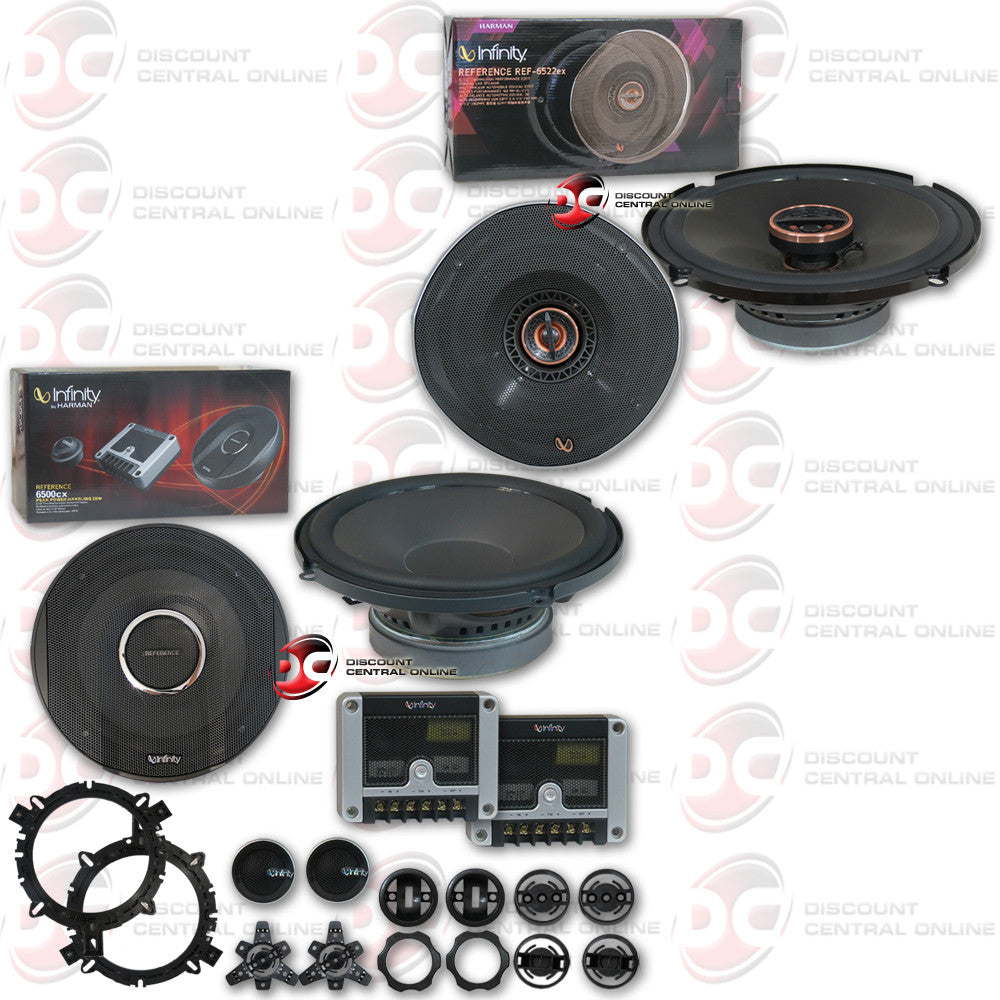 "Infinity REF-6520cx 6.5"" 2-way Car Component System + REF-6522ex 6.5"" 2-way Car Coaxial Speakers"