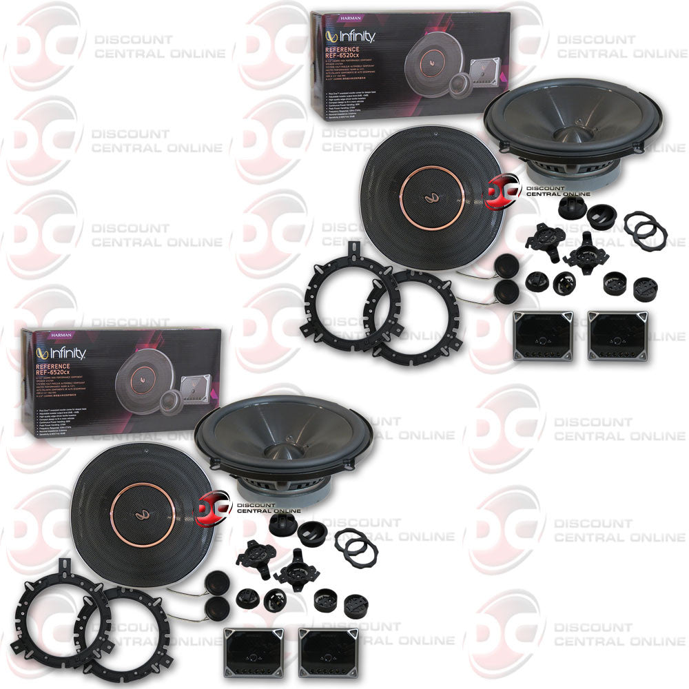 "Infinity REF-6520cx 6.5"" 2-way Car Component Speaker System (2 Pairs)"