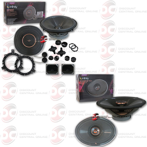 "Infinity Reference Ref-6520CX 6.5"" 2-way Car Audio Component Speaker Plus Infinity Ref-9622IX"