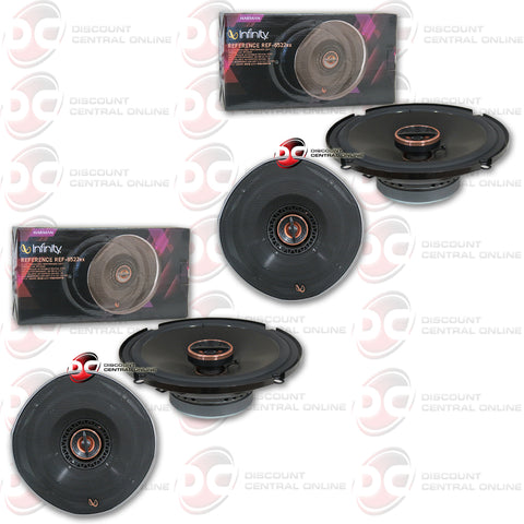 "Infinity REF-6522ex 6.5"" 2-way car shallow mount coaxial speakers (2 Pairs)"