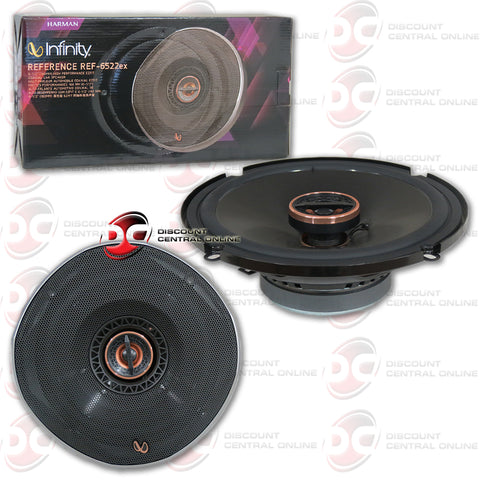"Infinity REF-6522ex 6.5"" 2-way car shallow mount coaxial speakers"