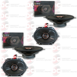 "4 x INFINITY REFERENCE REF-8622CFX 6""X8"" 2-WAY CAR SPEAKERS"