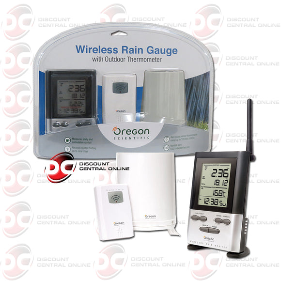 Oregon Scientific RGR126N Wireless Rain Gauge With Outdoor Thermometer