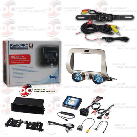 AC-RPK5-GM4101 Double-Din Installation Kit For 2010-2015 Chevrolet Camaro Vehicles (With Back-Up Camera)