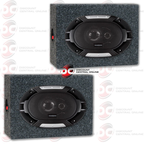 "Renegade RX693 6x9"" Car Audio Speakers (RX Series) and 2 Housing Speaker Boxes"
