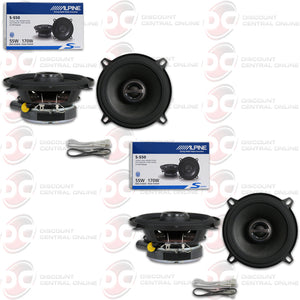 "ALPINE S-S50 5-1/4"" 2-WAY CAR COAXIAL SPEAKERS (2 PAIRS)"