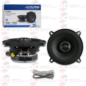 "ALPINE S-S50 5-1/4"" 2-WAY CAR COAXIAL SPEAKERS (S-SERIES)"