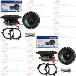 "ALPINE S-S65 6.5"" 2-WAY CAR COAXIAL SPEAKERS (2 PAIRS)"