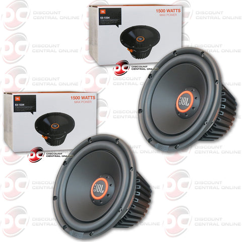 "2X JBL S3-1224 12"" 1500 WATT CAR AUDIO SUBWOOFER"