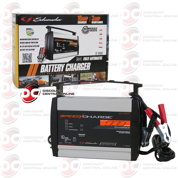 Schumacher 2/6/10 AMP 12V High Frequency Automatic Automotive Battery Charger