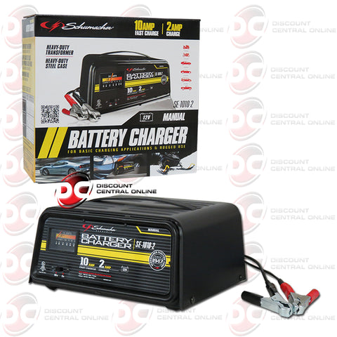 Schumacher SE-1010-2 10/2 AMP 12V Dual Rate Manual Automotive Battery Charger