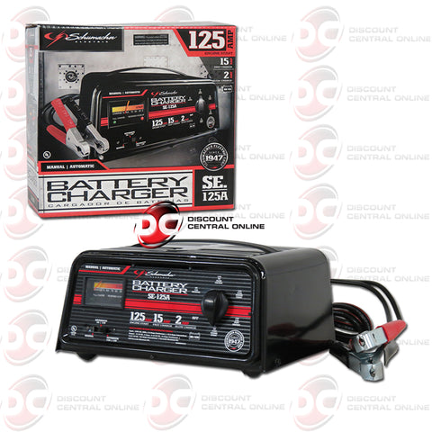 Schumacher SE-125A 2/15/125 Amp 12V Automatic/Manual Battery Charger with Engine Start