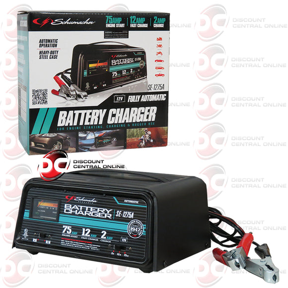 Schumacher SE-1275A 75/12/2 AMP 12V Automatic Battery Charger And Engine Starter