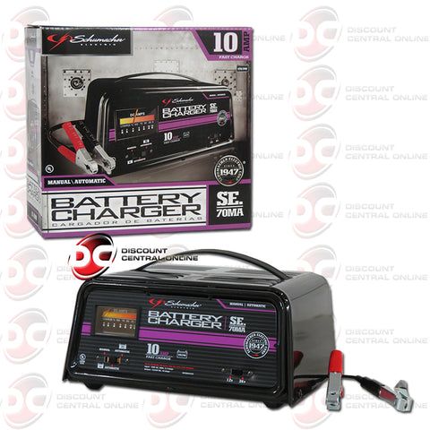 Schumacher SE-70MA 10A 2/24V Automatic/ Manual Traditional Deep Cycle Charger