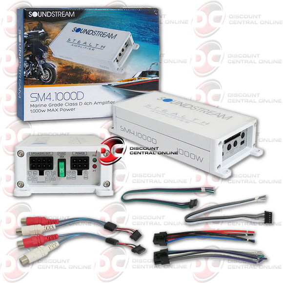 Soundstream SM4.1000D 4-channel Motorcycle Marine Audio Amplifier