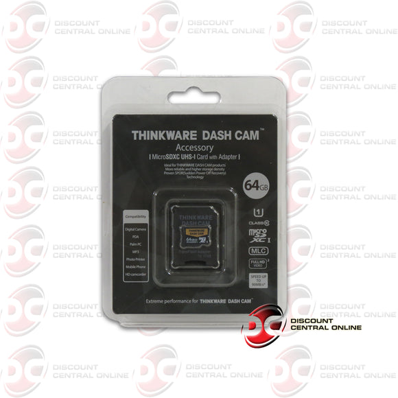 THINKWARE SMU64 64GB DASH CAM UHS-I MICRO SDXC CARD