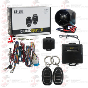 Crimestopper SP-102 1-way Car Alarm Security System With Keyless Entry