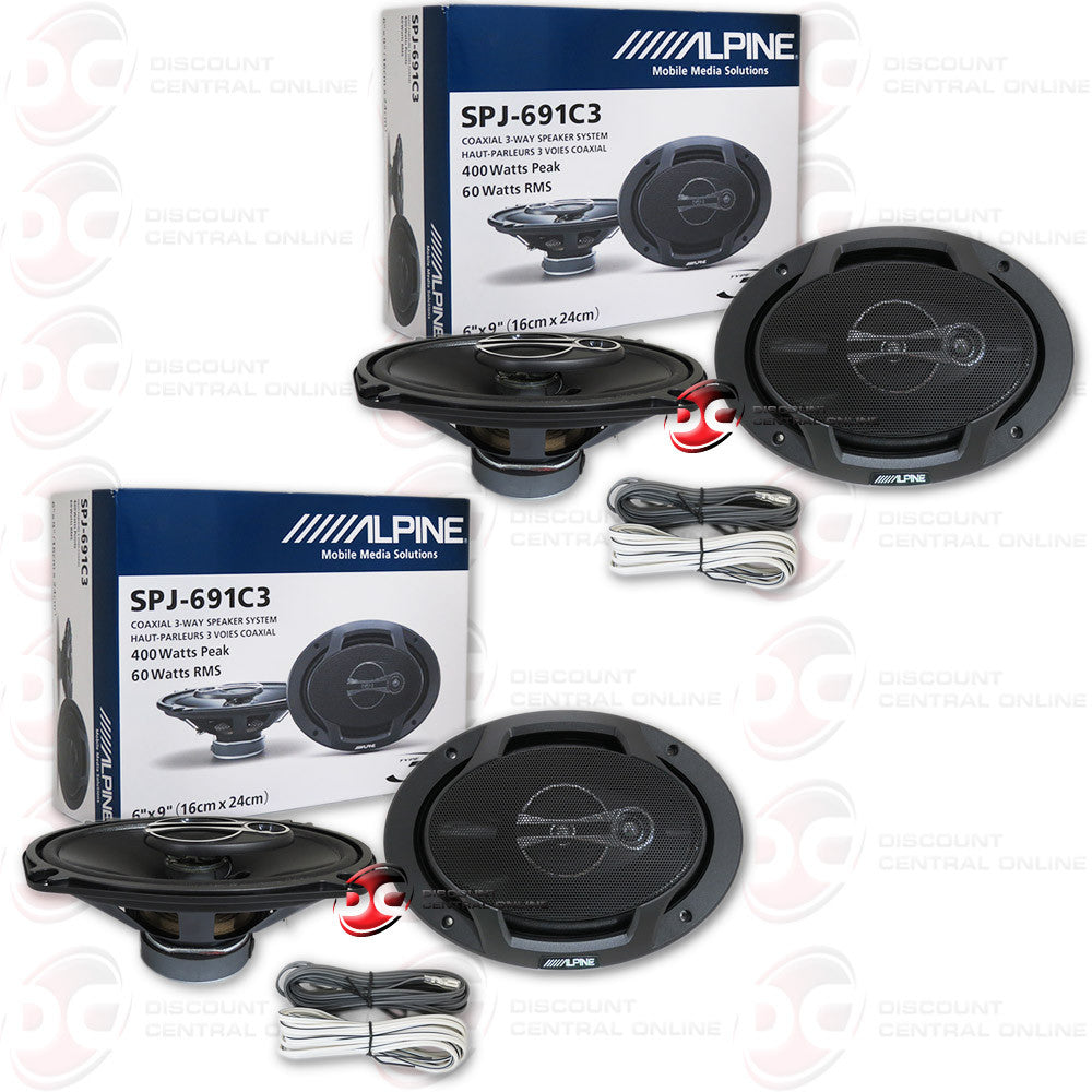 "4 x Alpine SPJ-691C3 6x9"" Car Audio Speakers"