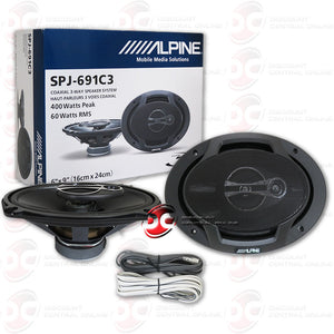 "Alpine SPJ-691C3 6x9"" 2-way Car Coaxial Speakers"