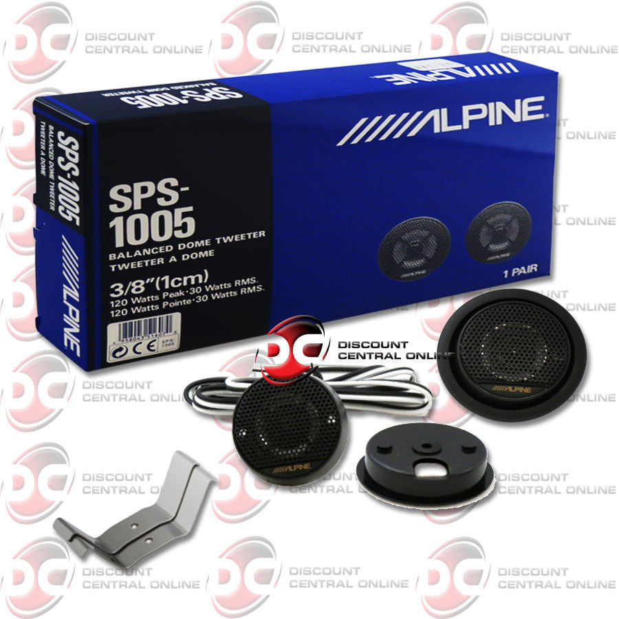 "Alpine SPS-1005 3/8"" Car Audio Tweeters"