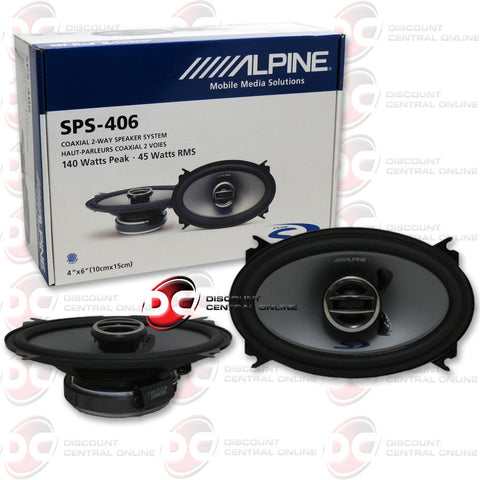 "Alpine SPS-406 Type-S 4x6"" Car Audio Speakers"