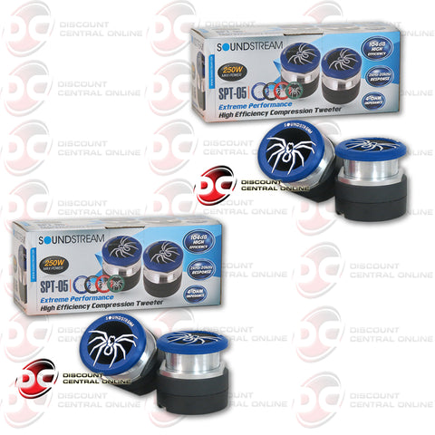 2X SOUNDSTREAM SPT-05 250W (125 RMS) CAR AUDIO TWEETERS (EXTREME PERFORMANCE SERIES)