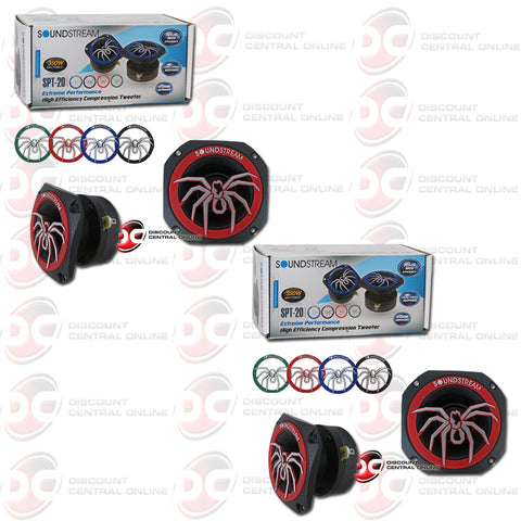 Soundstream SPT-20 1-inch Car 4 Ohm Pro Audio Aluminum Tweeters (2 Pairs)