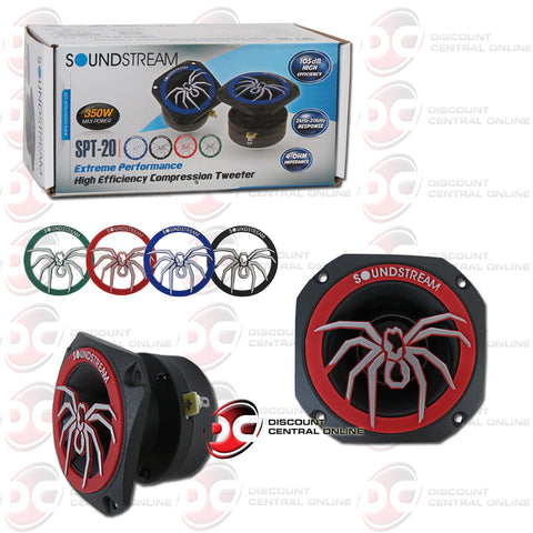 Soundstream SPT-20 1-inch Car 4 Ohm Pro Audio Aluminum Tweeters (Pair)