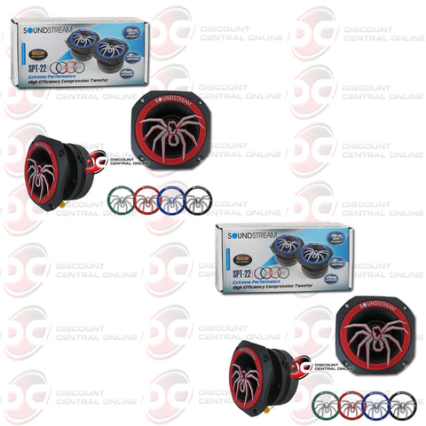 "Soundstream SPT-22 1.75"" Car 4 Ohm Pro Audio Aluminum Tweeters (2 Pairs)"