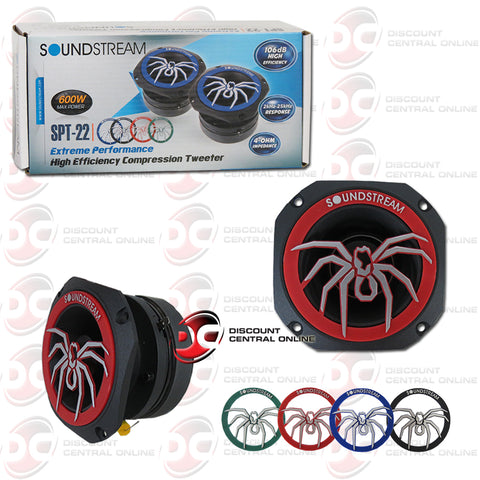 "Soundstream SPT-22 1.75"" Car 4 Ohm Pro Audio Aluminum Tweeters (Pair)"