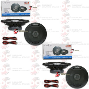 "CLARION 6.5"" 2-WAY CAR COAXIAL SPEAKERS (2 PAIRS)"