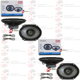 "CLARION 6"" x 8"" 3-WAY CAR AUDIO CUSTOM-FIT MULTIAXIAL SPEAKERS (2 PAIRS)"