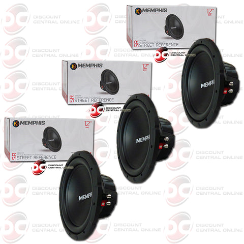 "3x Memphis SRX1244 12"" Dual 4-Ohm Car Audio DVC Subwoofer"