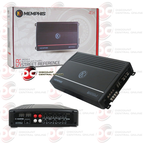 Memphis SRX300.4 4-Channel Car Amplifier (Street Reference Series)