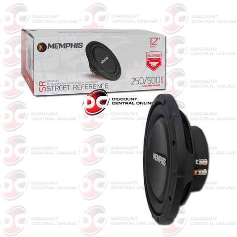"Memphis SRXS1244 12"" Dual 4-Ohm Car Audio Subwoofer"