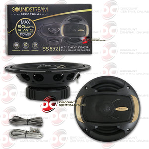 "SOUNDSTREAM 6.5"" 2-WAY CAR AUDIO SPEAKERS"