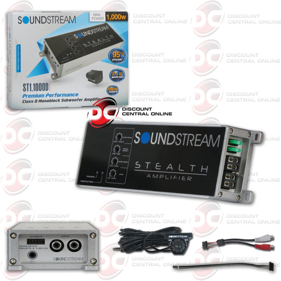 SOUNDSTREAM ST1.1000D CLASS-D MONO BLOCK CAR MOTORCYCLE AMPLIFIER