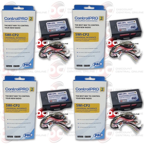 4 x  PAC SWI-CP2 UNVERSAL STEERING WHEEL INTERFACE WORKS W/ ANALOG & DATA SWC SYSTEM