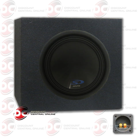 "Alpine SWS-12D4 12"" Car Audio Speakers and Subwoofer Housing Box"